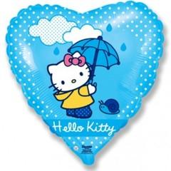 Фольгированный шар Hello Kitty с зонтом