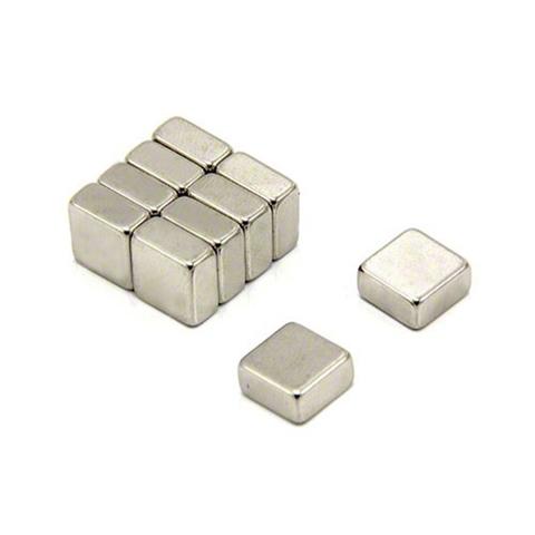 Магнит 6х6х4 мм, N38, никель, неодимовый блок