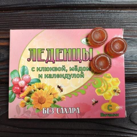 Фотография Леденцы с клюквой, медом и календулой 10 шт купить в магазине Афлора