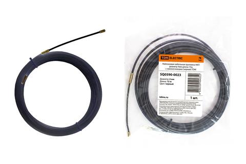 Нейлоновая кабельная протяжка НКП диаметр 4мм длина 15м с наконечниками (черная) TDM