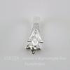 Держатель для кулона (цвет - серебро) 15х8х6 мм