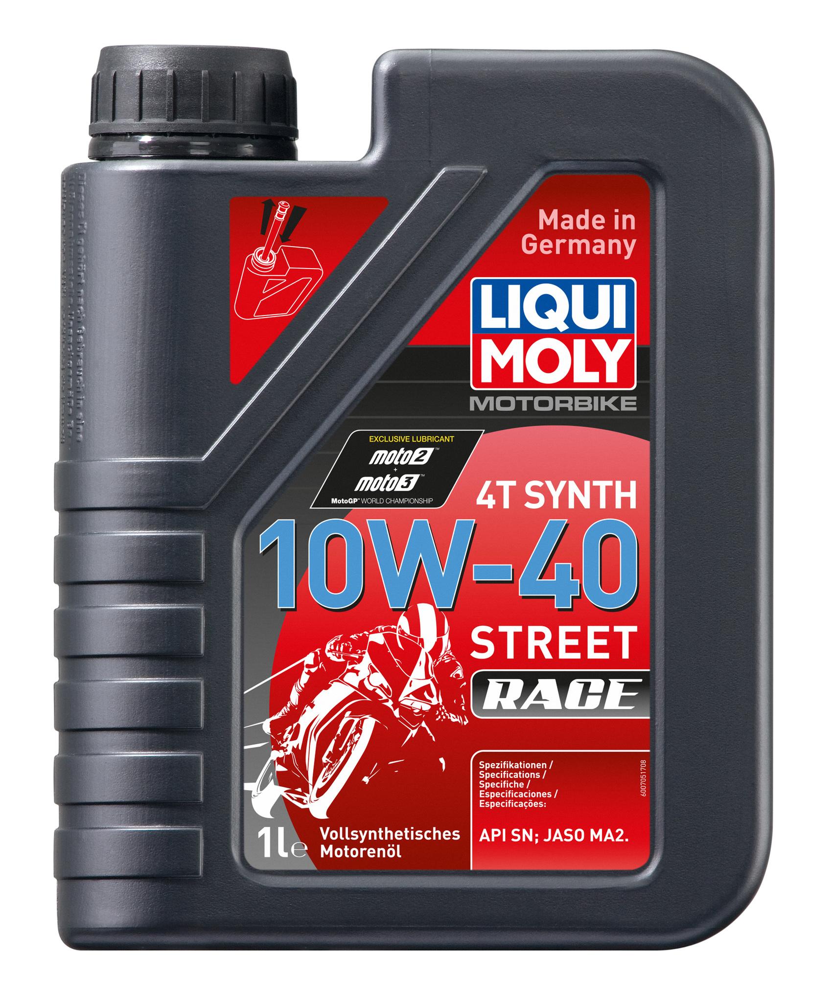Liqui Moly Motorbike 4T Synth Street Race 10w40 Синтетическое моторное масло для 4-тактных мотоциклов + подарок