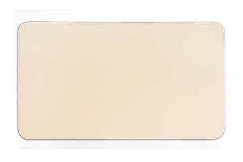 Бювар из итальянской кожи Cuoietto модель №9 цвет слоновая кость..