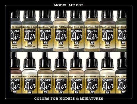 Model Air German WWII Europe & Africa (16) 17 ml.