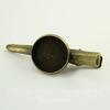 Основа для заколки с сеттингом для кабошона 16 мм, 45х18 мм  (цвет - античная бронза)