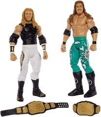 Набор из 2 фигурок Эджи и Кристиан (Edge and Christian) - рестлеры WWE, Mattel