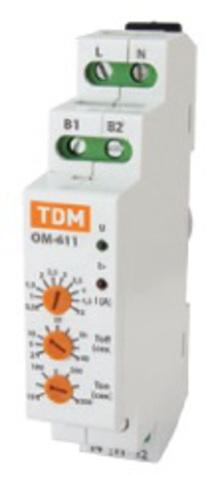 ОМ-611 0,5/5А-01 (1ф, через ТТ, 0,5-5А) TDM