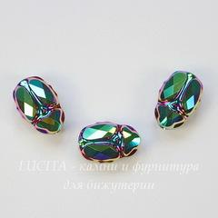 5728 Бусина Скарабей Сваровски Crystal Scarabaeus Green 12 мм