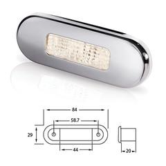 Светильник для подсветки палуб и трапов светодиодный 84х29 мм, белый теплый свет