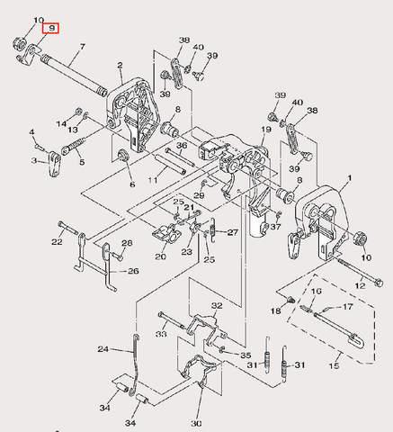 Скоба для лодочного мотора F9,9 Sea-PRO (21-9)