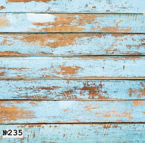 Фотофон виниловый «Потертые голубые доски» №235