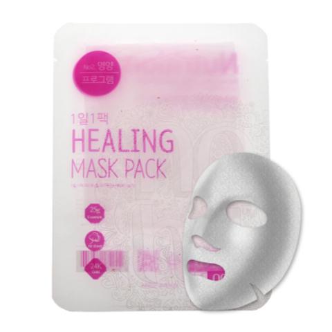 Ежедневная тканевая питательная маска с экстрактом женьшеня, 28 г / NO:HJ Healing Mask Pack №2 Nutrition
