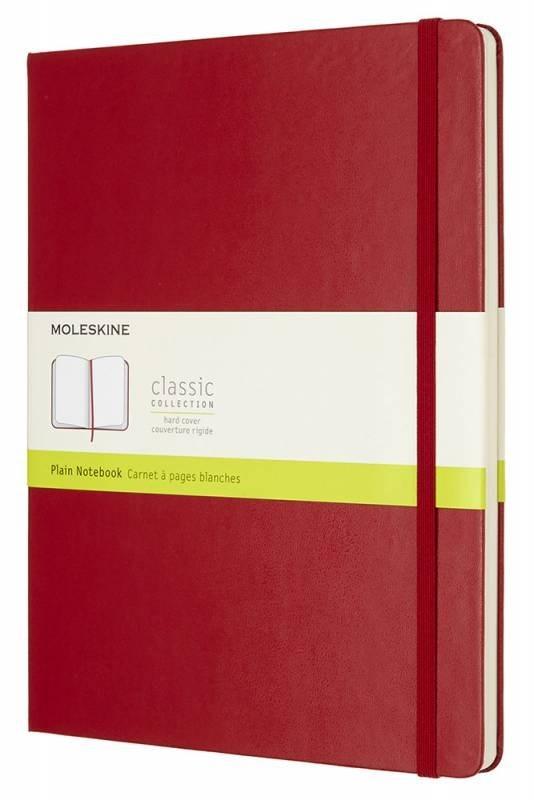 Блокнот Moleskine Classic XLarge, цвет красный, без разлиновки 432243(QP092F2)
