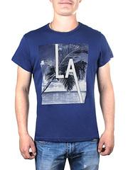 17606-1 футболка мужская, синяя