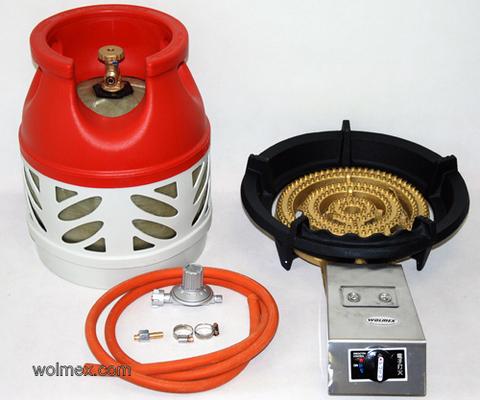 Комплект 44. Горелка газовая Wolmex CGS-22R1 с композитным баллоном и редуктором EN61 - V50