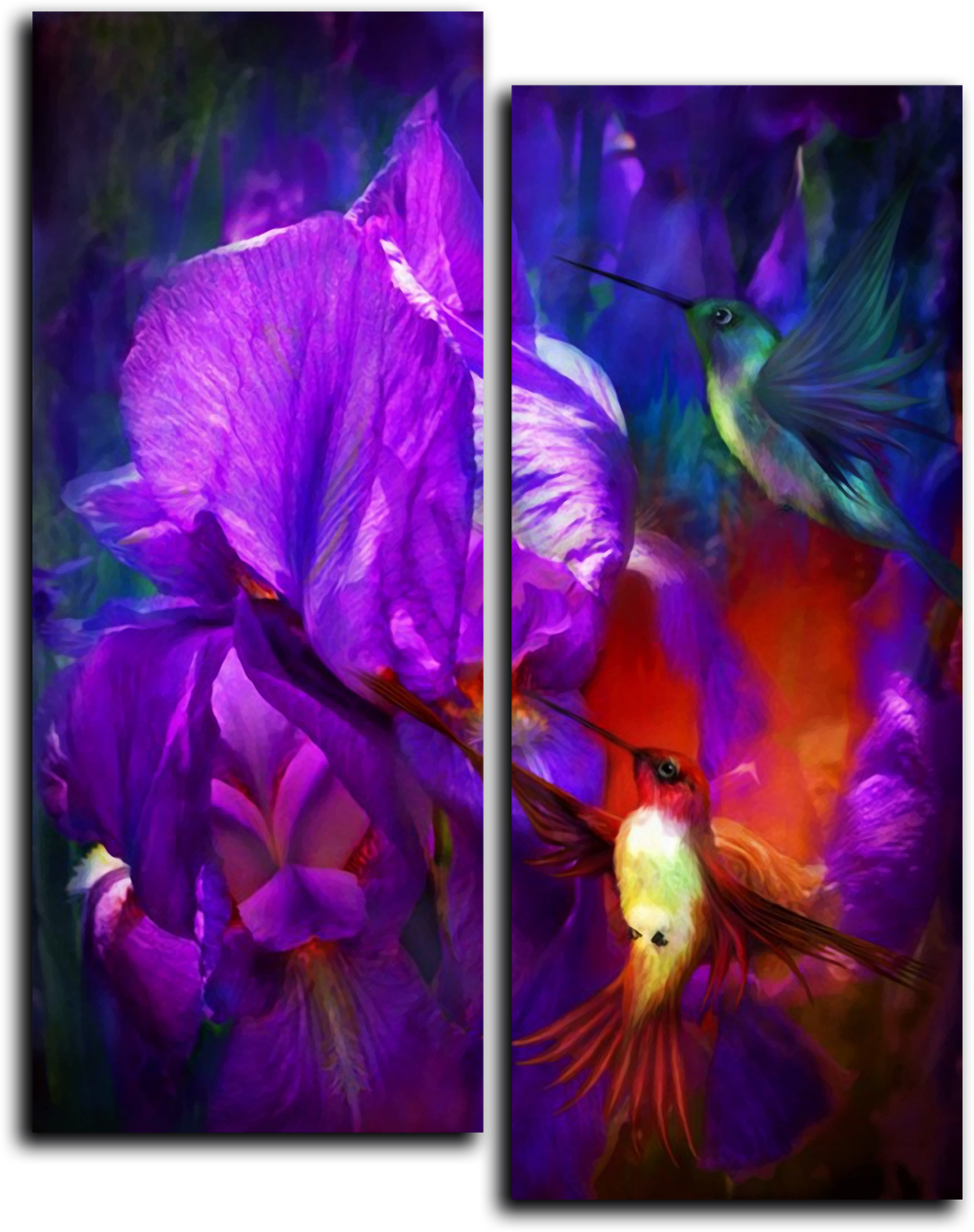 "Цветы Модульная картина ""Цифровая живопись"" М743.png"