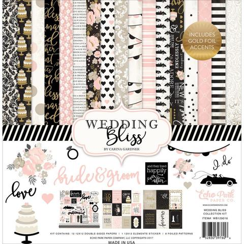 Набор бумаги с украшениями Echo Park Collection Wedding Bliss- 30х30см.