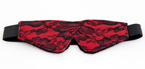 Кружевная маска красная