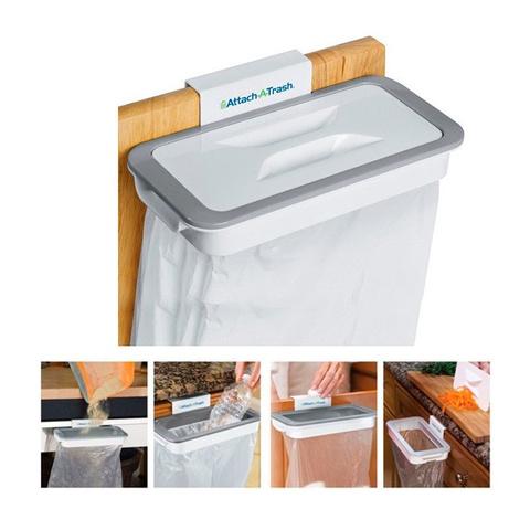 Навесной держатель мусорных пакетов Attach-A-Trash – это новый вид ...