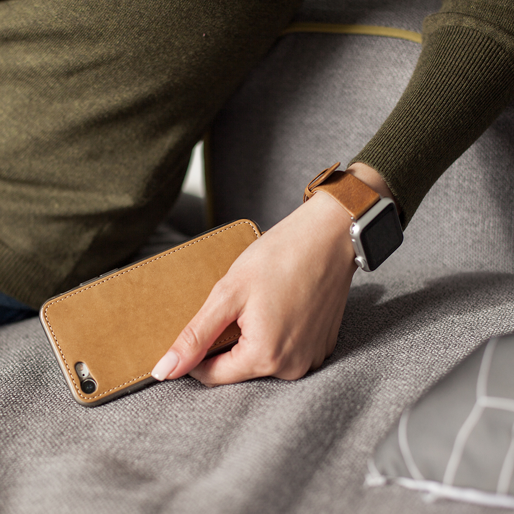 Чехол для iPhone 8 из натуральной кожи теленка, цвета винтаж