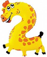 К Цифра, 2 Жираф, с клапаном (16''/41 см), 1 шт.