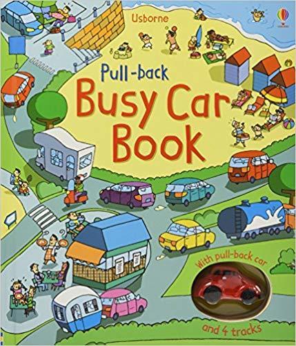 Kitab Pull-back Busy Car Book | Fiona Watt