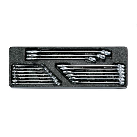 Набор комбинированных ключей в ложементе, 6-24 мм, 16 предметов, HONITON IK-CW10160C