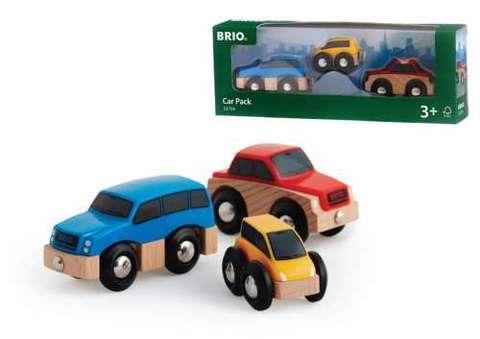 33759 BRIO Набор из 3-х машинок с магнитами