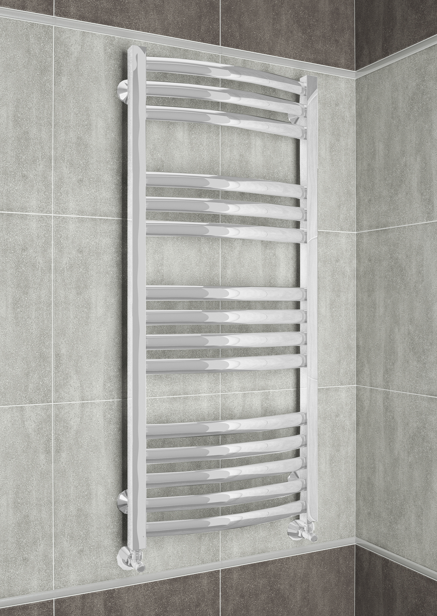 Palermo E - электрический дизайн полотенцесушитель белого цвета.