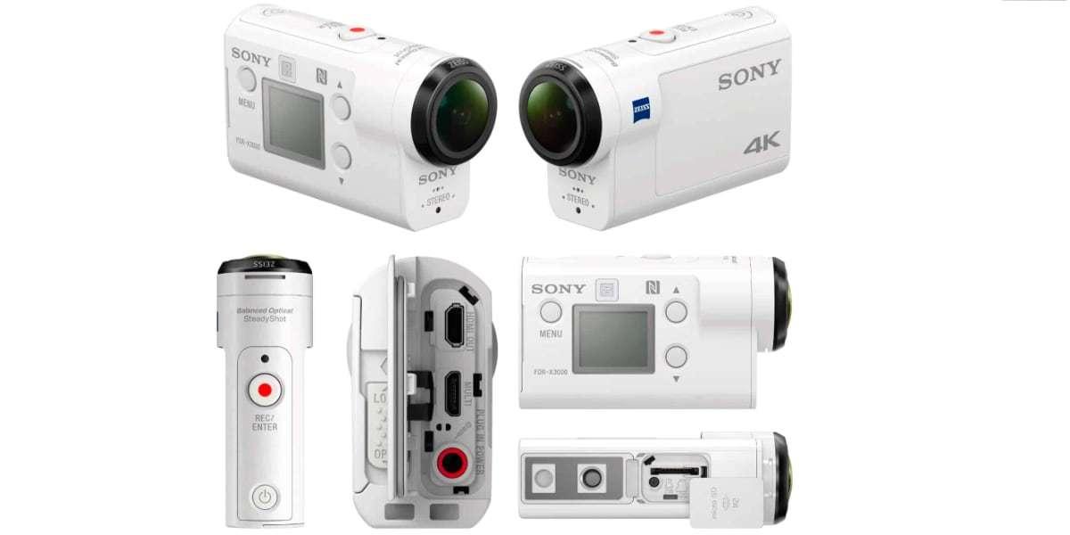 Экшн-камера Sony FDR-X3000R со всех сторон