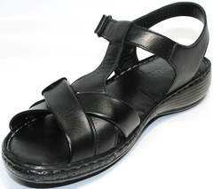 Босоножки на низком каблуке Evromoda 15 Black.