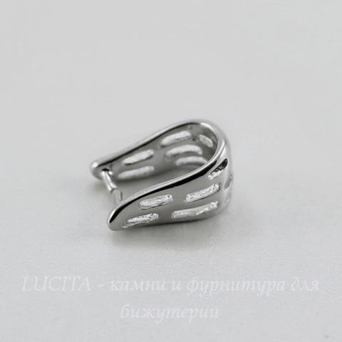Держатель кулона 13х8х6 мм (цвет - платина)