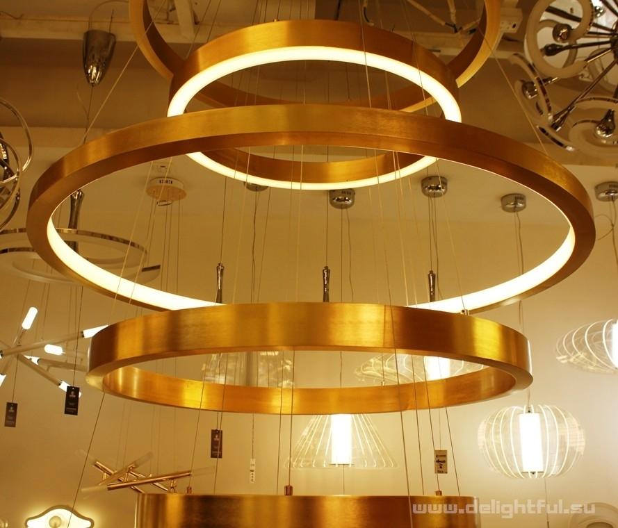 Light Ring Lamp Brass For Henge 40 Cm