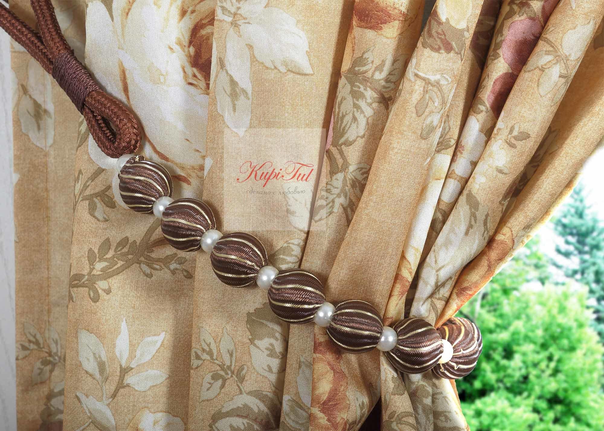 Мелиса. Легкие шторы с принтом
