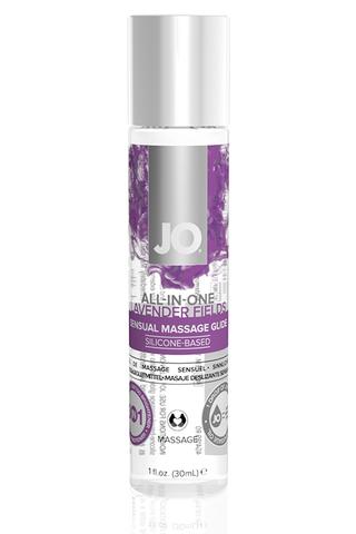 Массажный гель-лубрикант на силиконовой основе ALL-IN-ONE Massage Glide Lavender с ароматом лаванды фото