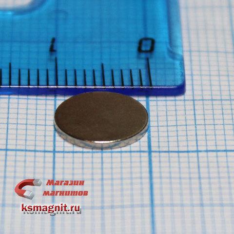 Неодимовый магнит диск 10*1 мм