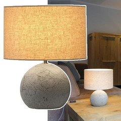 SLV 155700 — Светильник настольный SOPRANA SOLID, TL-1, круглый, серо-бежевый текстиль, E27, макс. 40W
