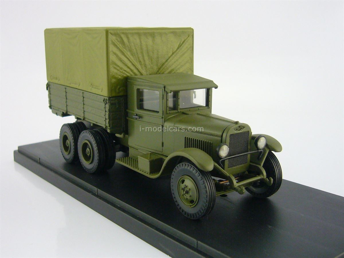 ZIS-6 with awning khaki 1:43 Miniclassic