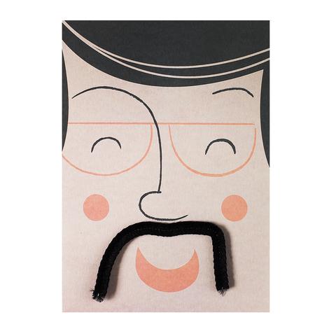 Открытка Mustache Peach