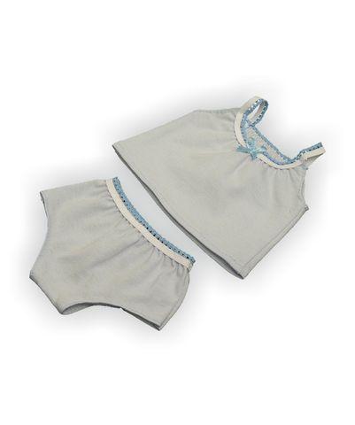 Комплект белья - Голубой. Одежда для кукол, пупсов и мягких игрушек.
