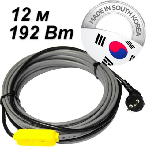 Комплект для обогрева трубопровода (12м-192 Вт). Ю.Корея. EK-12