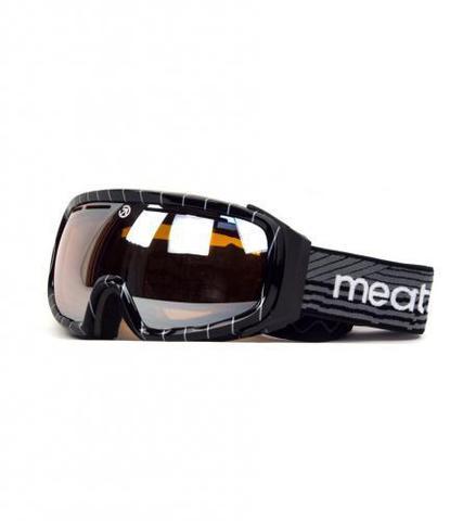 Сноубордическая маска Meatfly Attos (black/white)