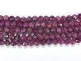 Нить Бисера из корунда пурпурного, шар граненый 3,5мм