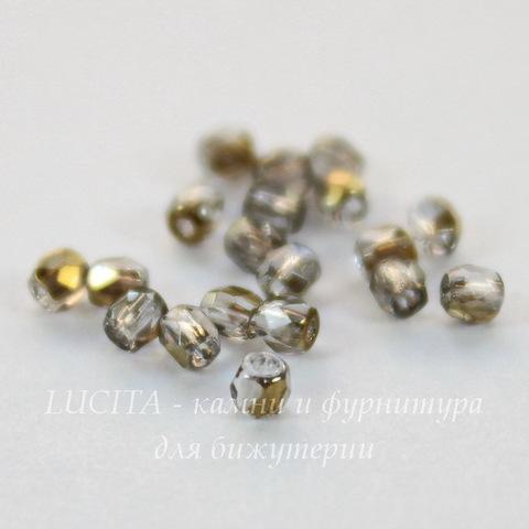 Бусина 2Tiny Шарик с огранкой, 2 мм, прозрачная с бронзой