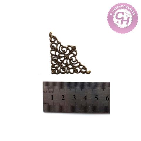 Уголок металлический ажурный, 3,5*3,5 см, 1 шт.