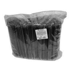 Трубочки для коктейля прямая Fresh 210мм,d=7мм,черн в инд.упак. 500шт/уп.ПП