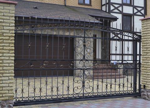 Кованые откатные ворота N-4
