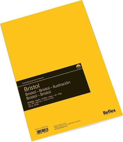 Альбом для графики Bristol 180 г/м2 29.7*42см 50л склейка по короткой стороне