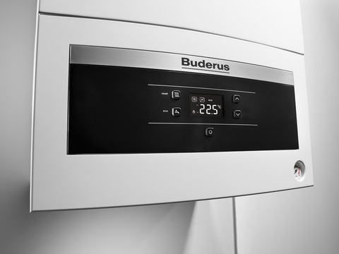 Buderus Logamax U072-12K Газовый Атмосферный котел Белый Панель крупно