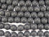 Нить бусин из оникса черного матового, шар гладкий 12мм